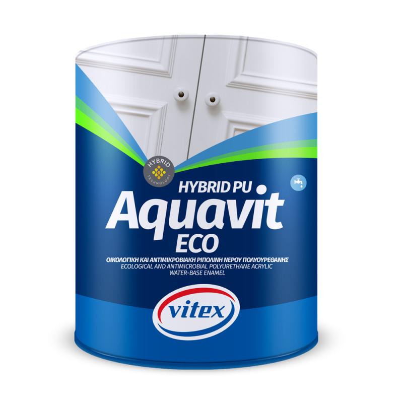 Лакова боя на водна основа Aquavit Eco - Гръцки бои Vitex - Строителни бои в Образцов ДОМ - Магазин за строителни материали
